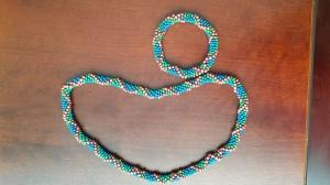 conjunto colar e pulseira